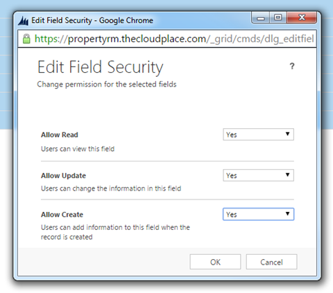 Field Level Security in Dynamics CRM