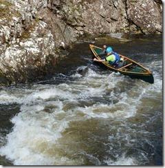 esquif prospector canoe on river
