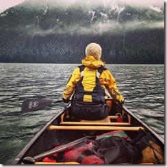 esquif canoe on a lake
