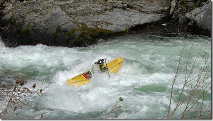 esquif edge canoe on rapids