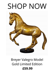 Breyer Valegro Model Gold Limited Edition from RB Equestrian
