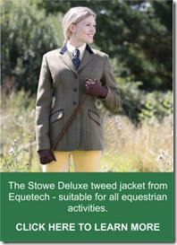 Equetech Stowe Deluxe tweed jacket from RB Equestrian