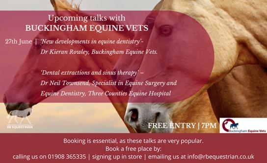 Spring Talk on 27 June at RB Equestrian