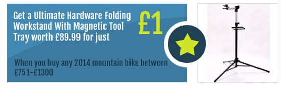 Workstand-with-tray-Mountain-Bike-Offer-Rutland-Cycling