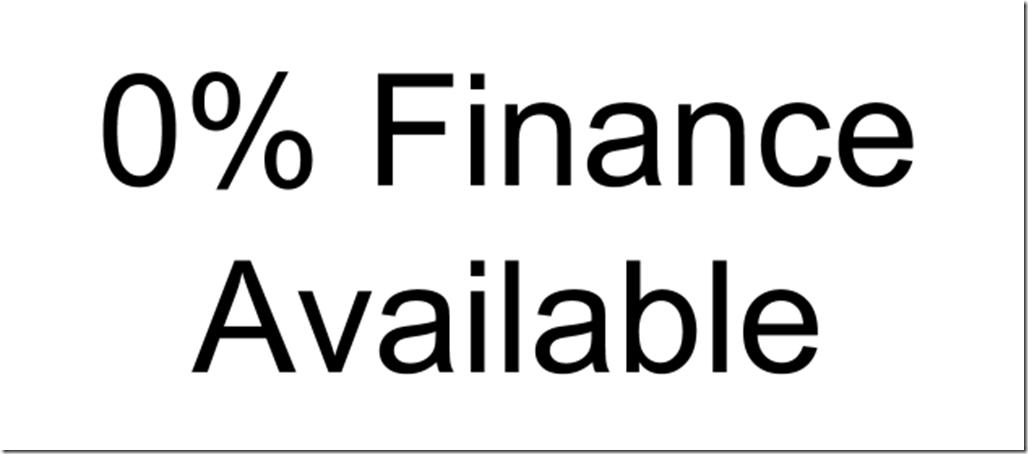 0% Finance