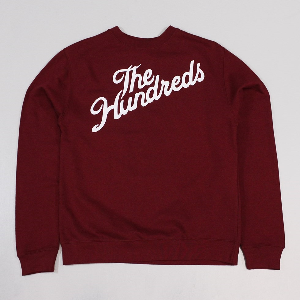 The Hundreds Forever Slant Crew Burgundy