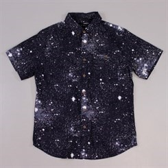 The Quiet Life Cosmos Button Down Short Sleeve Black