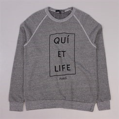 The Quiet Life Paris Crewneck Heather Grey