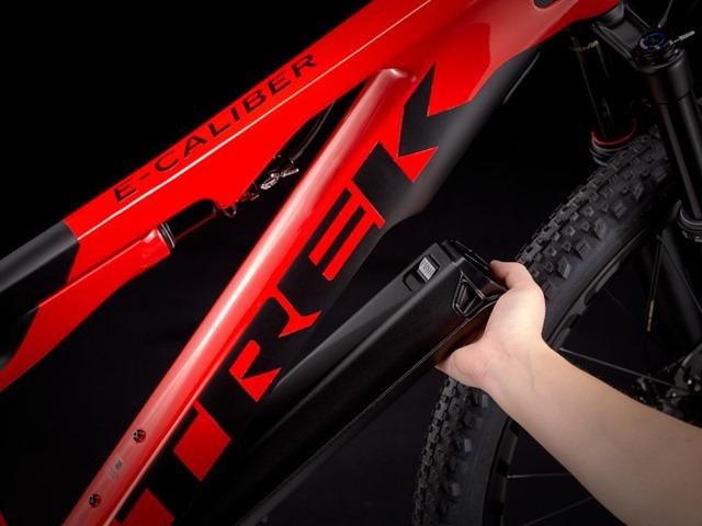 Trek E-Caliber removable battery and motor