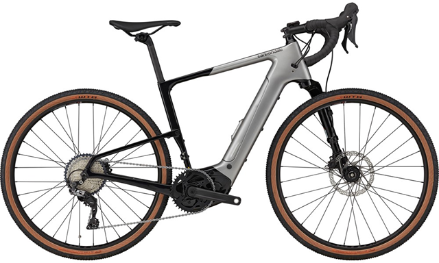 2021 Cannondale Topstone Neo Lefty Carbon 3 electric Gravel bike in Grey