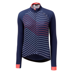 23.Altura womens Icon Long Sleeve Jersey in Navy Mix
