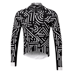 Altura Icon Tokyo mens Long Sleeve Jersey in White_Black