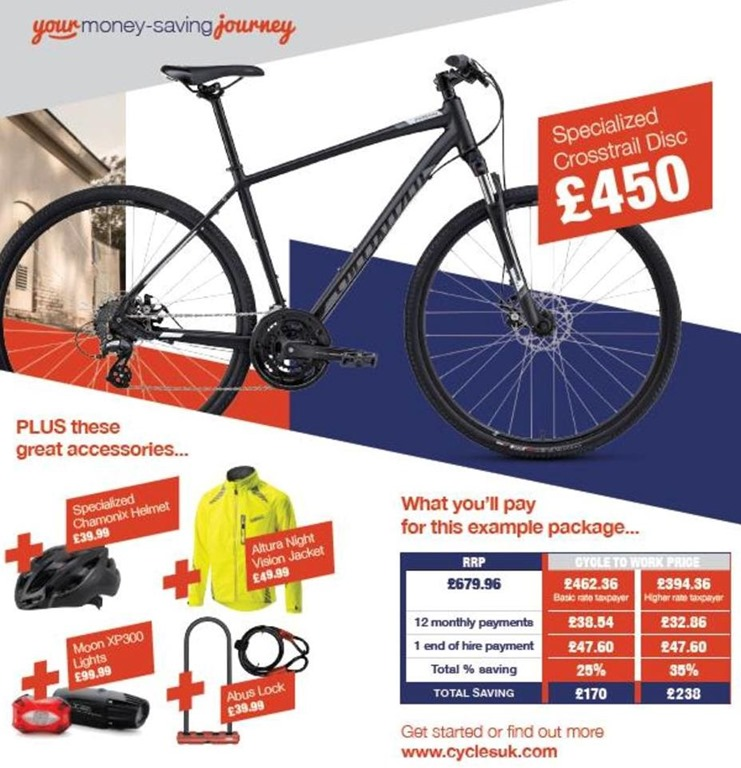 Cycle to Work Page Example