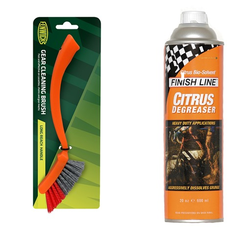 degreaser and brush