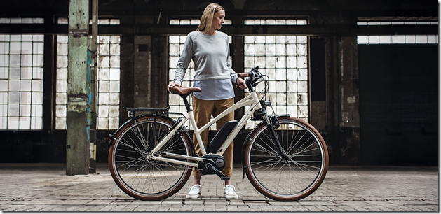 2020 Riese and Muller Cruiser Mixte ebike blonde lady