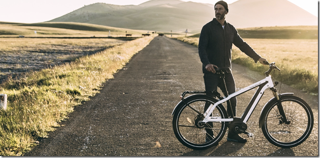Riese and Muller Charger white man explore ebike
