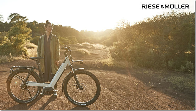 Riese and Muller Nevo GT white lady ebike