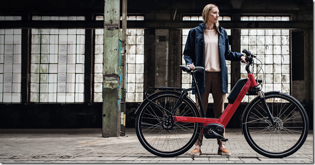 Riese and Muller Nevo red lady ebike 2