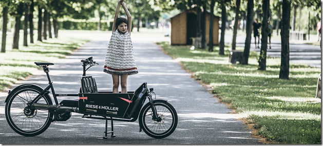 Riese and Muller Packster girl child ebike