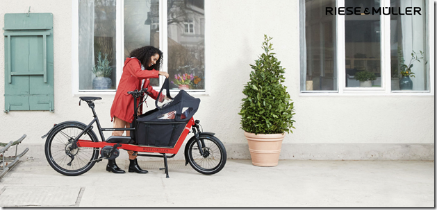 Riese and Muller Packster woman baby ebike