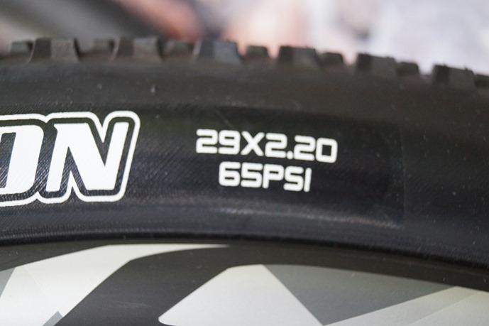 pressure on tyre
