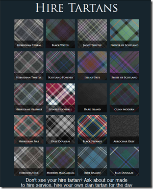 hire tartans