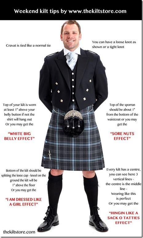 kilt-wearing