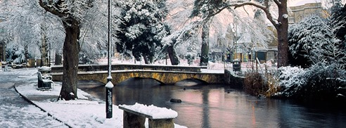 Bourton-on-the-water-winter