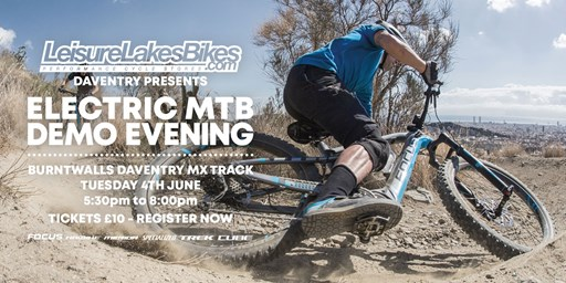 b012956d173 Join Leisure Lakes Bikes Daventry on Tuesday 4th June at Burntwalls Farm to  test the latest electric mountain bikes from Cube, Focus, Haibike,  Specialized ...
