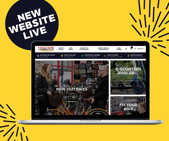 CK new website launch socials laptop