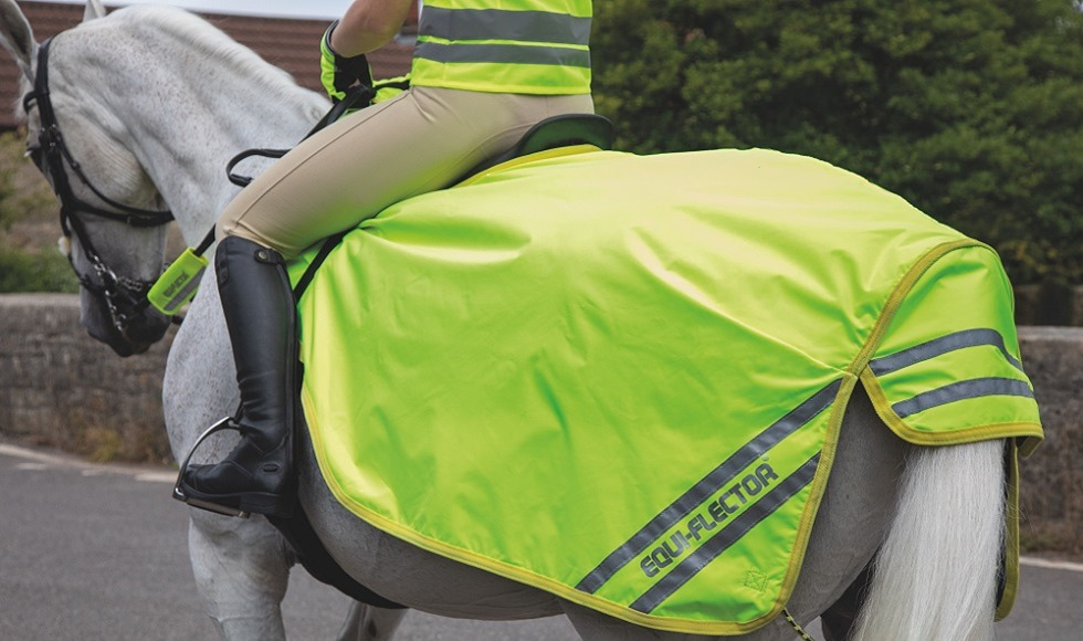 Shires EQUI-FLECTOR Waterproof Exercise Sheet in Yellow from RB Equestrian