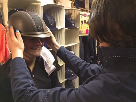 Riding Hat Fitting at Redpost Equestrian, South West, Devon