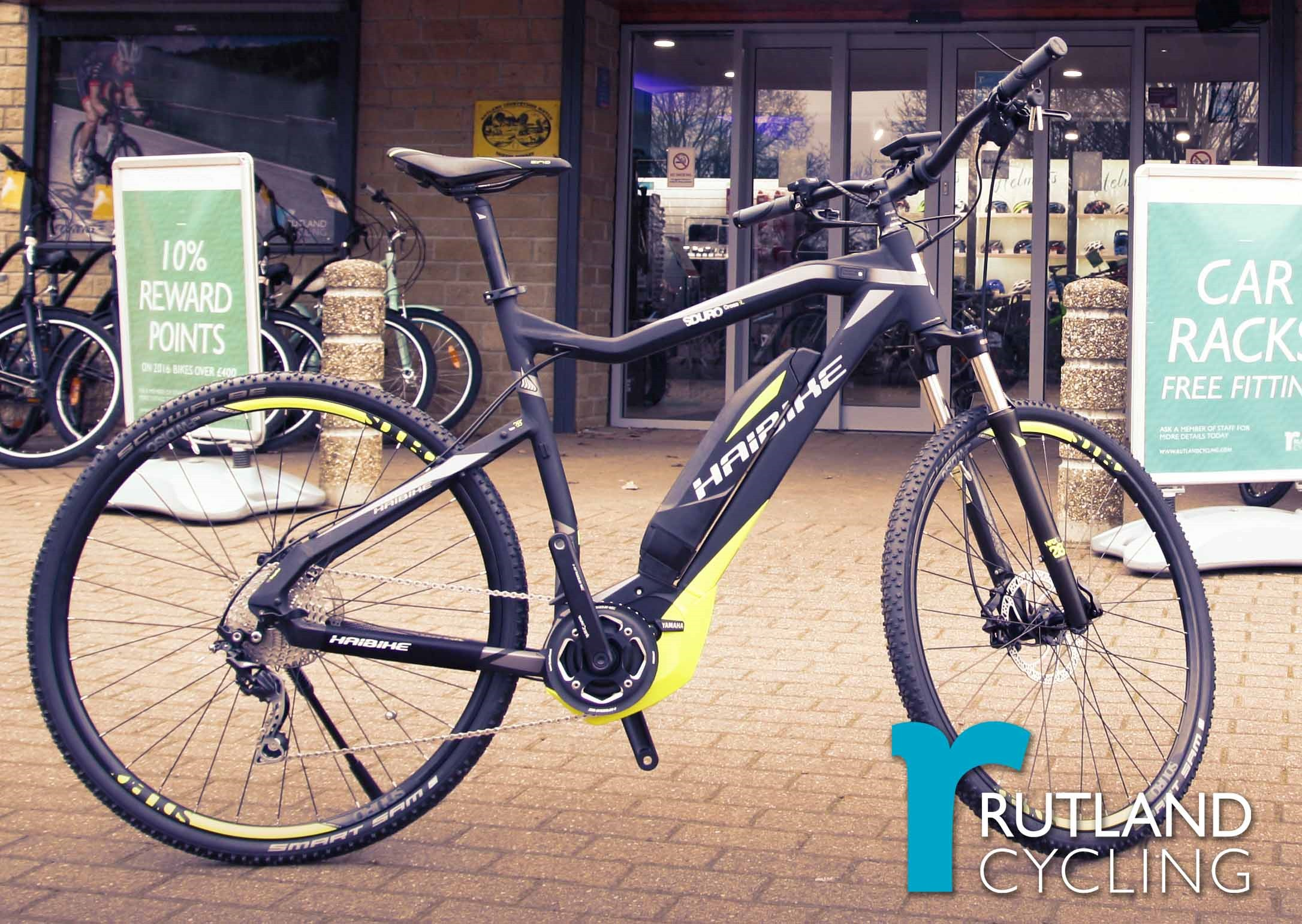 Haibike E-bikes at Rutland Cycling Whitwell
