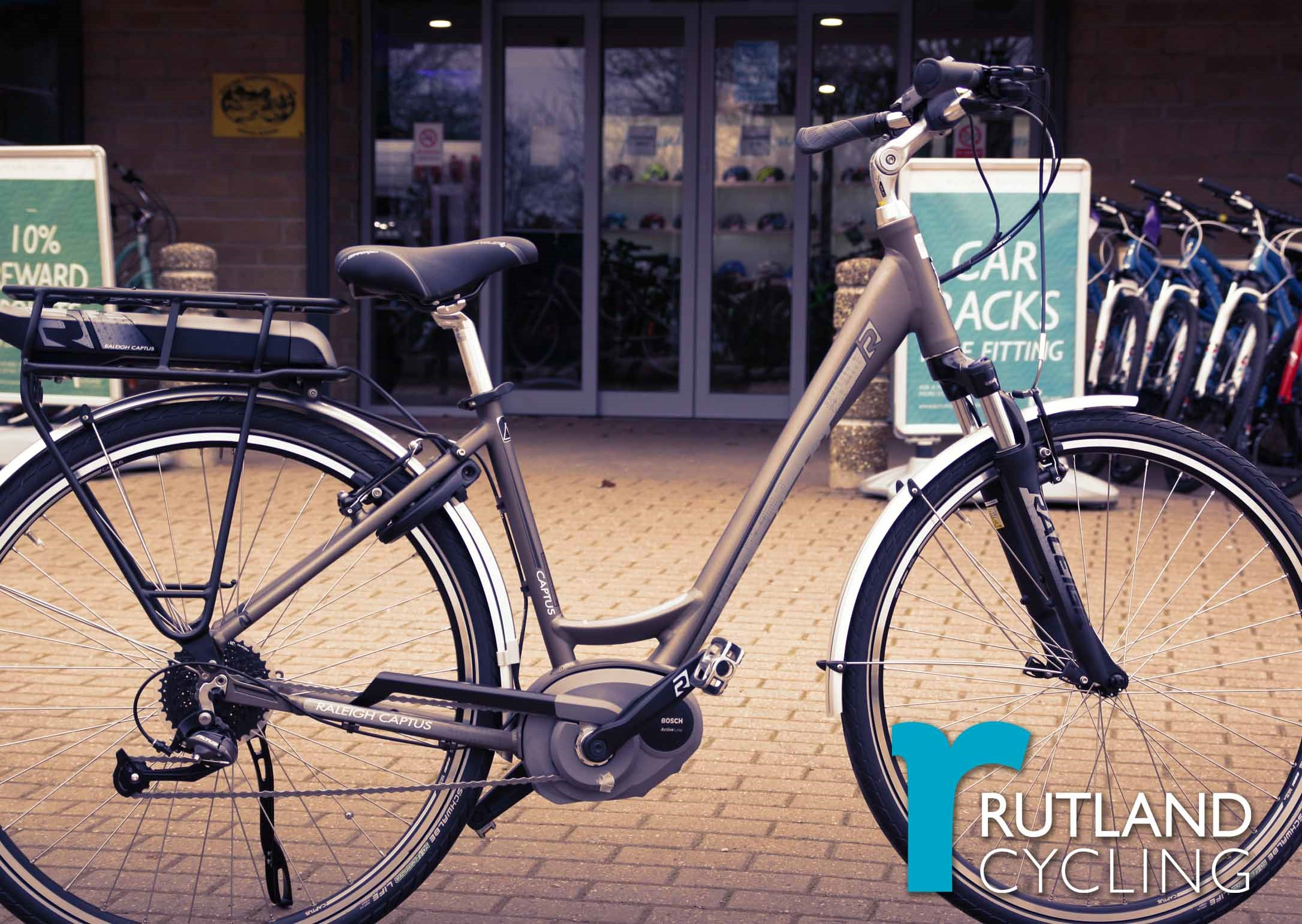Raleigh E-bikes at Rutland Cycling Whitwell