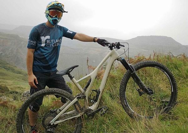 riding through cannock chase mountain bike