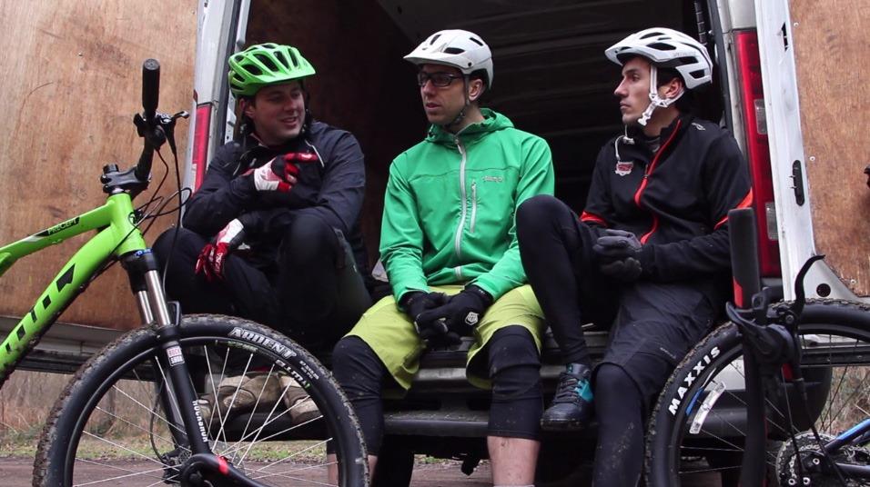 Test riding full suspension 2015 mountain bikes