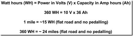 Watt hour calculation