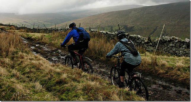muddy mountain biking