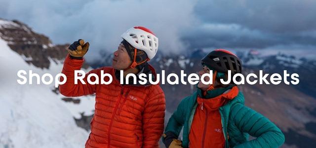 Rab jackets shop banner