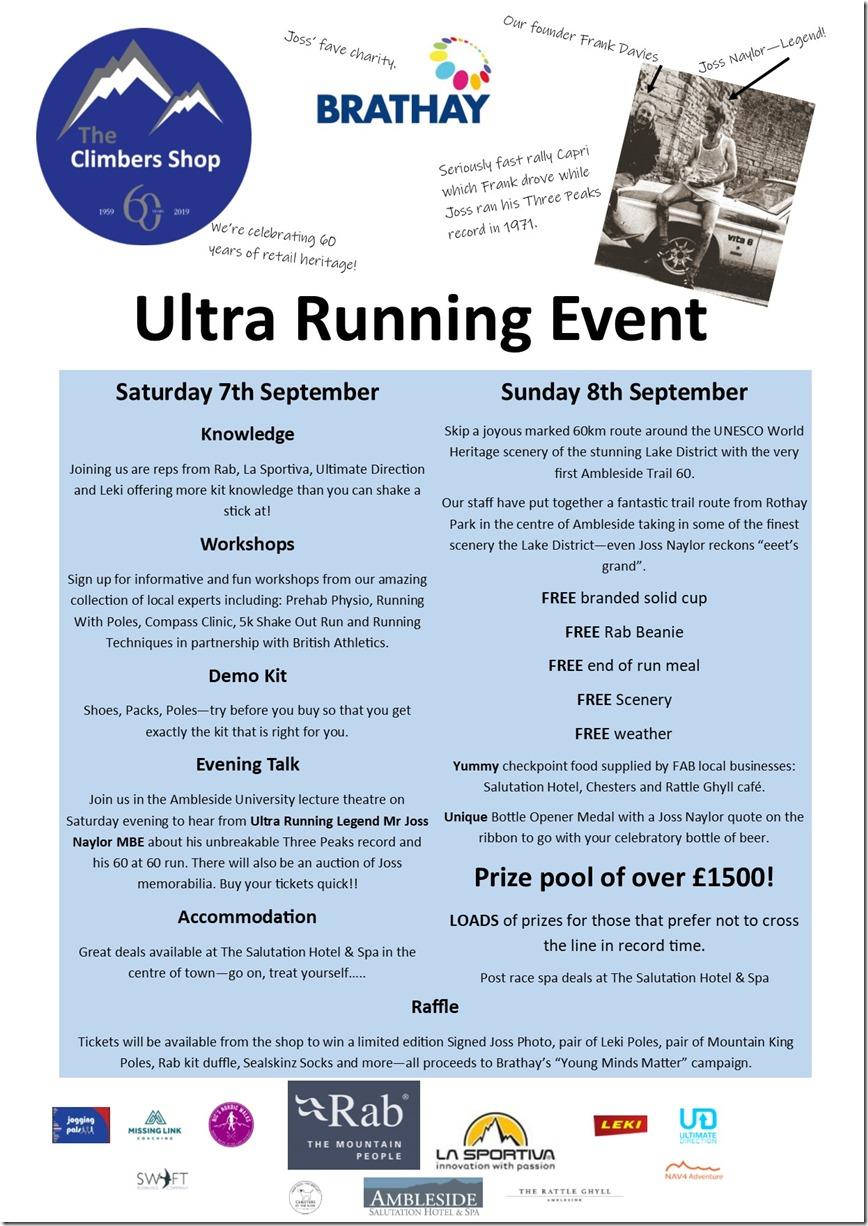 Ultra Running Weekend Flyer