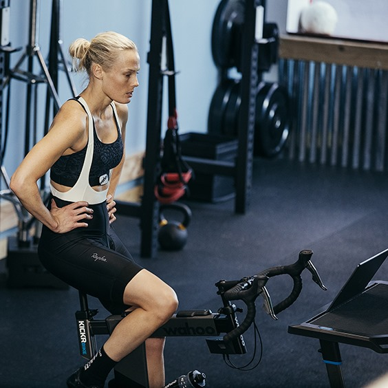 indoor turbo training with wahoo tickr