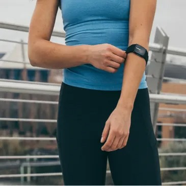 exercising with tickrfit armband