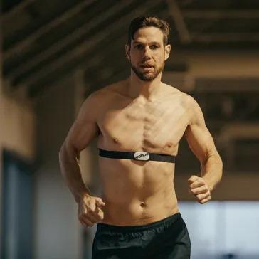 tickrx heart rate monitor man running