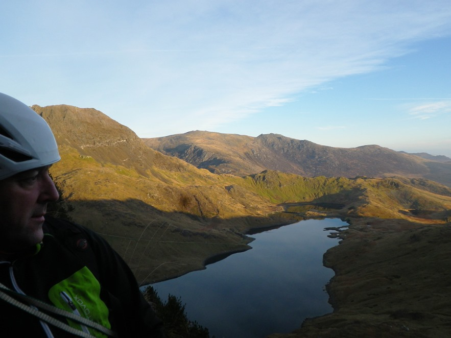 1 Early Morning at the First Stance, Llyn Llydaw and the Glyderau in the background