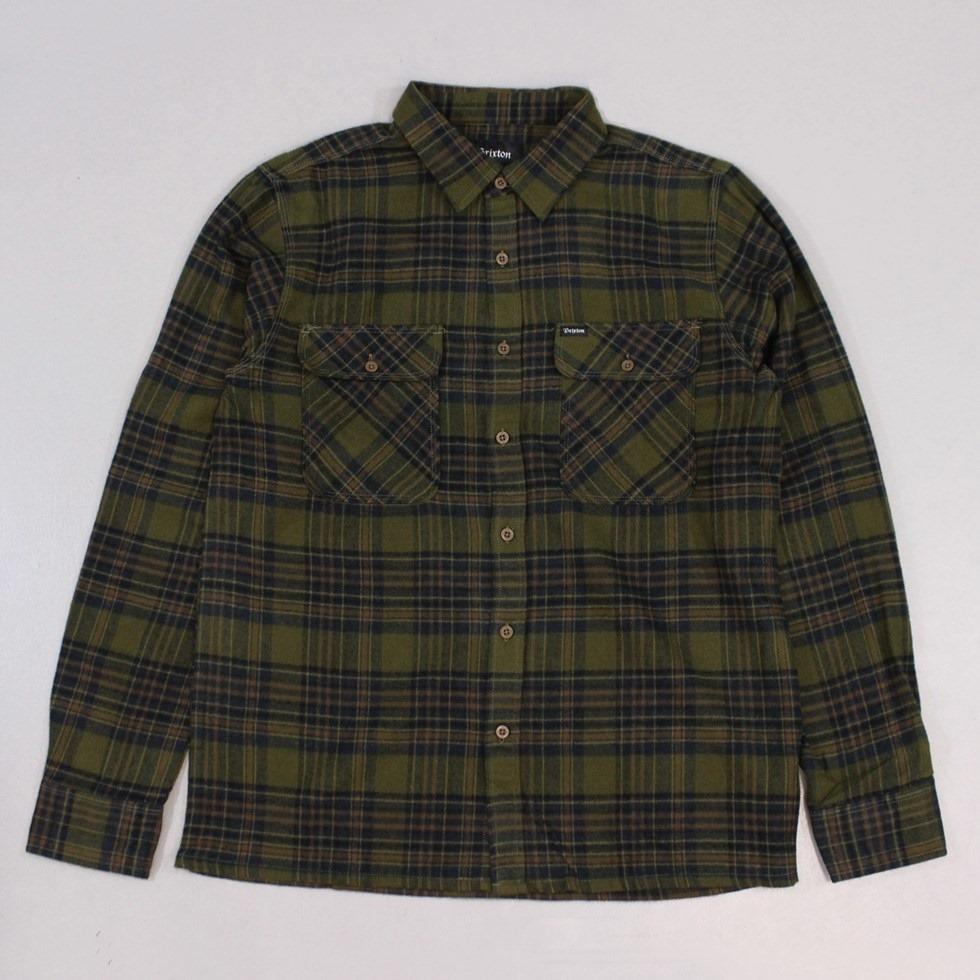 Brixton Archie Shirt Green Navy