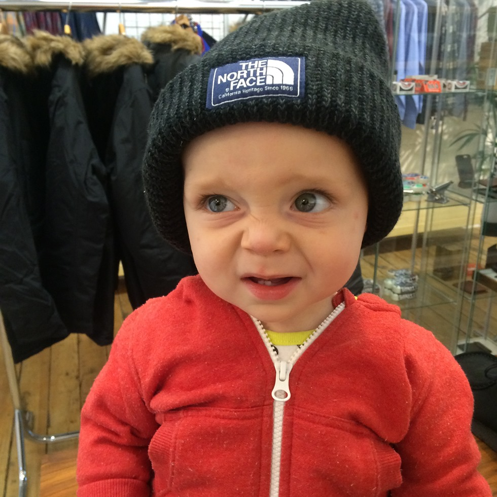 Henry in his Salty Dog Beanie