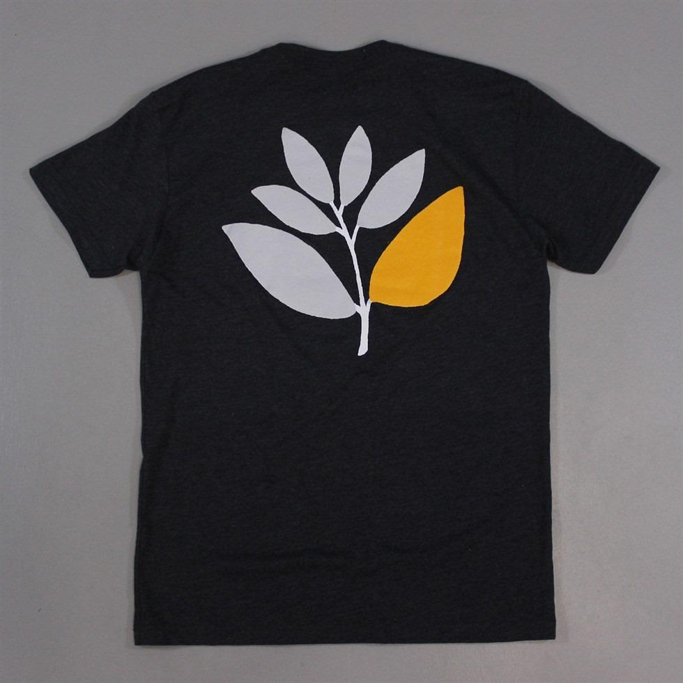 Magenta 2 Plant T Shirt in Grey and Orange