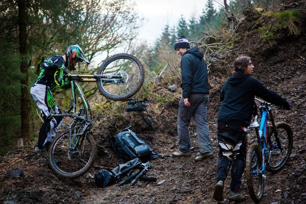 Alex Rankin Filming with Nico Vink and Adam Brayton in Keswick, Cumbria
