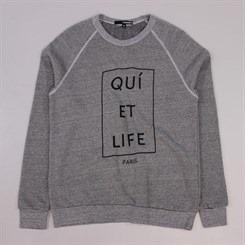 The Quiet Life Paris Crewneck Heather Grey