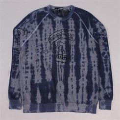 The Quiet Life Skull Cap Sweatshirt Tie Dye Blue Heather Grey